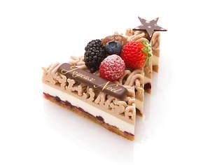 サダハル・アオキのクリスマス2020、ピスタチオ×ショコラのモミの木型ケーキ&イチゴのマカロンケーキ 画像6