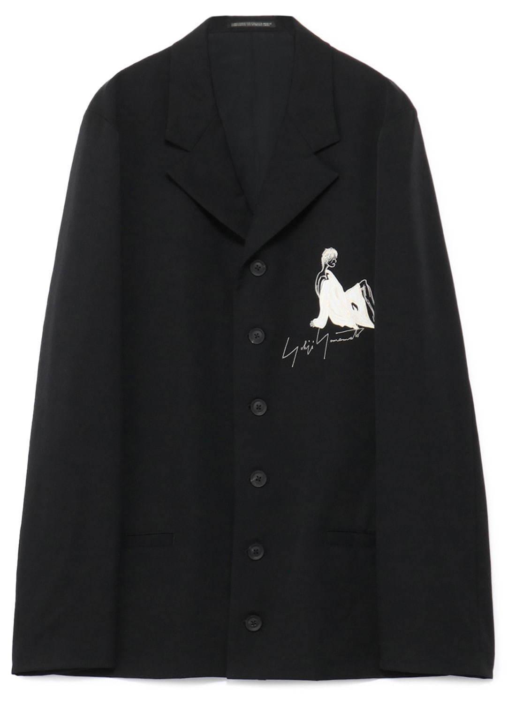 〈ヨウジヤマモト〉アーカイブから着想「女優刺繍」メンズジャケット