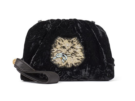 PARTY VELVET CAT CLUTCH  36,000円