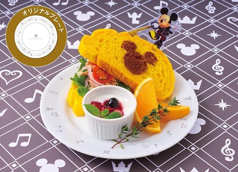 <王様(ミッキー)>王様のツナサンド 1,399円+税/プレート付き:+2,000円+税