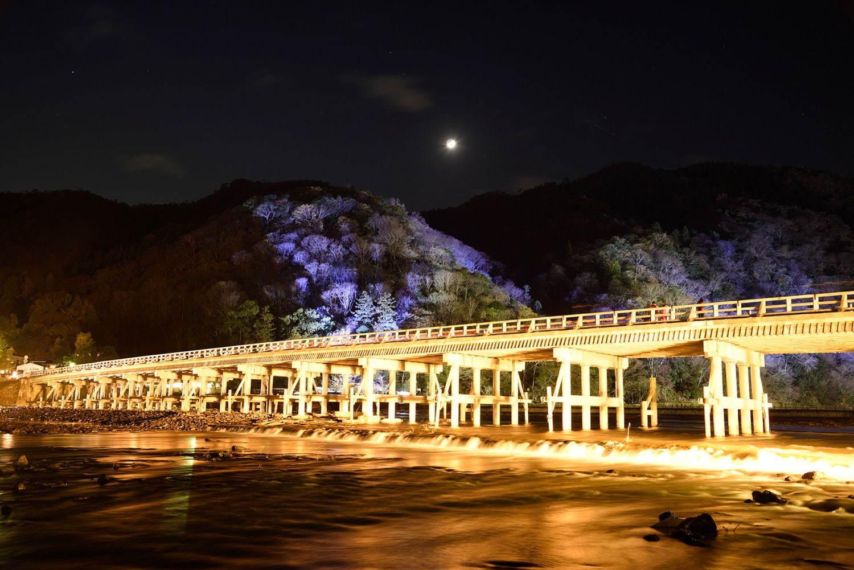 """京都・嵐山花灯路-2020」渡月橋ライトアップや情緒あふれる散策路""""灯り ..."""