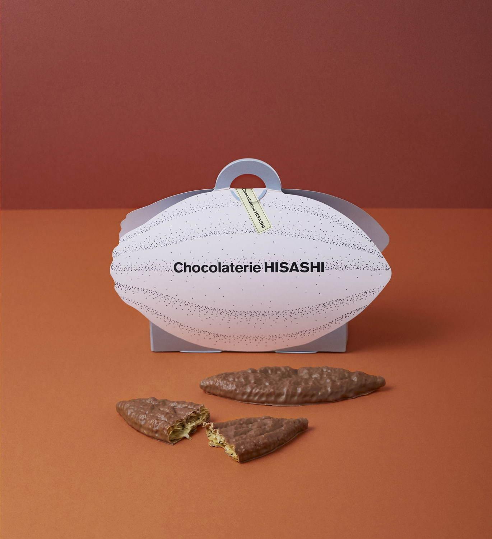 「銀月サロン×ショコラトリーヒサシ」ラプサンスーチョンのショコラパイ(ショコラパイ3枚、茶葉1袋入り) 3,240円(税込)