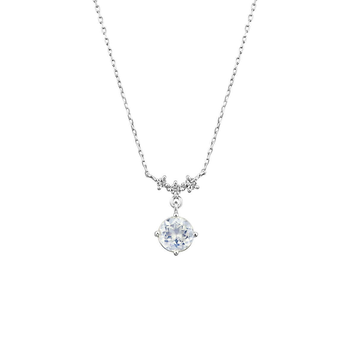 K10WG Necklace/Feldspar/Topaz 23,000円+税