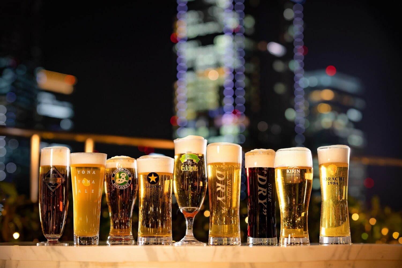 スタンダードプランではアサヒ、キリン、サッポロの生ビールを飲み比べることが出来るほか、ビネガーサワー、ノンアルコールカクテルなど全38種類のドリンクが飲み放題