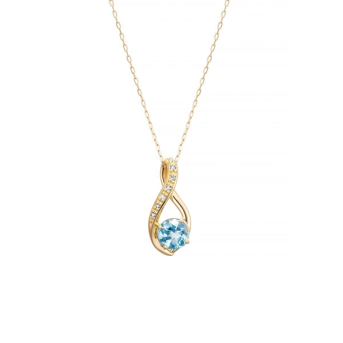 ネックレス 37,400円(税込) K10YG/Topaz/Diamond