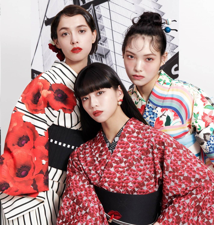 和服ブランド・ふりふ(Furifu)とコラボレーションした浴衣も数量限定で発売
