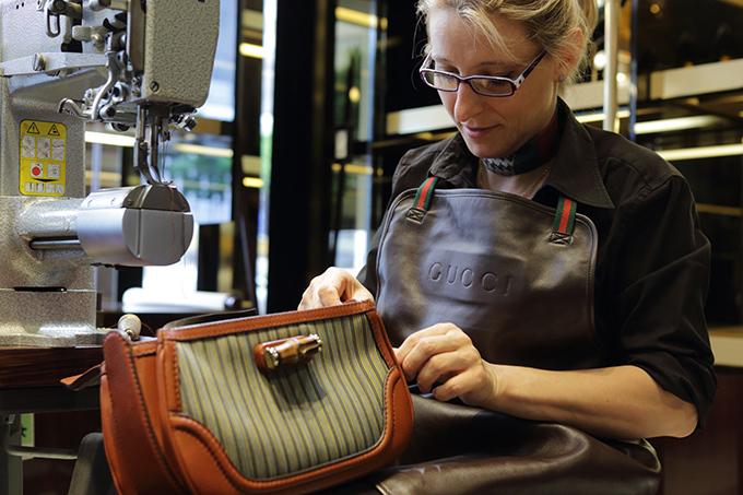 伝統織物・仙台平とGUCCIがコラボで限定バンブーバッグ