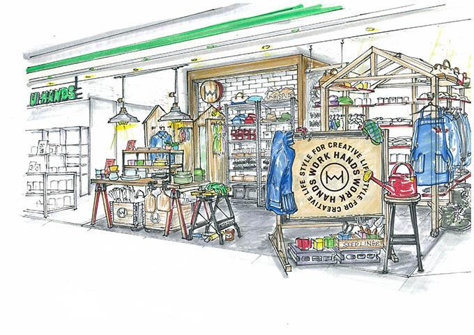 東急ハンズとBEAMSがコラボ - 新業態のワークウェアショップ「WORK HANDS」