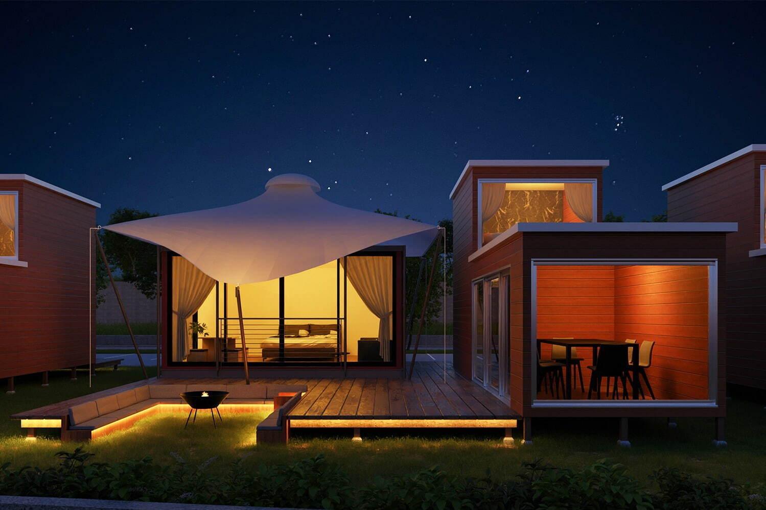 「グランマーレ 淡路」全棟客室温泉付&オーシャンビューグランピング、各テントに専用ガーデンも 写真2