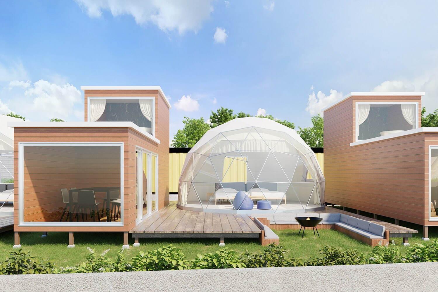 「グランマーレ 淡路」全棟客室温泉付&オーシャンビューグランピング、各テントに専用ガーデンも 写真5