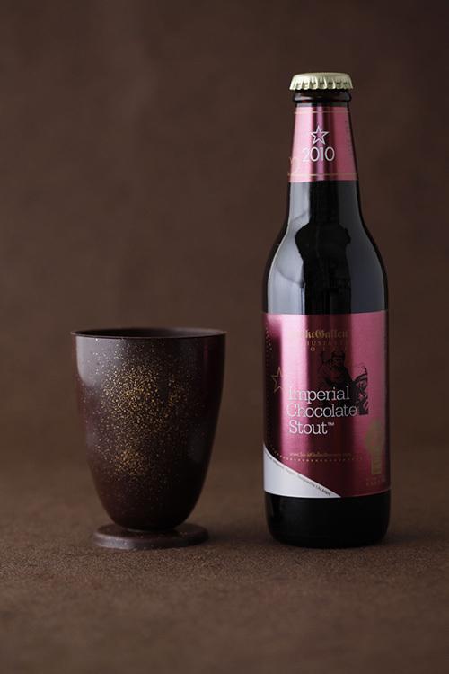 チョコビール&食べられるチョコ製グラスのセットが800個限定で発売 - チョコグラスを作るイベントも