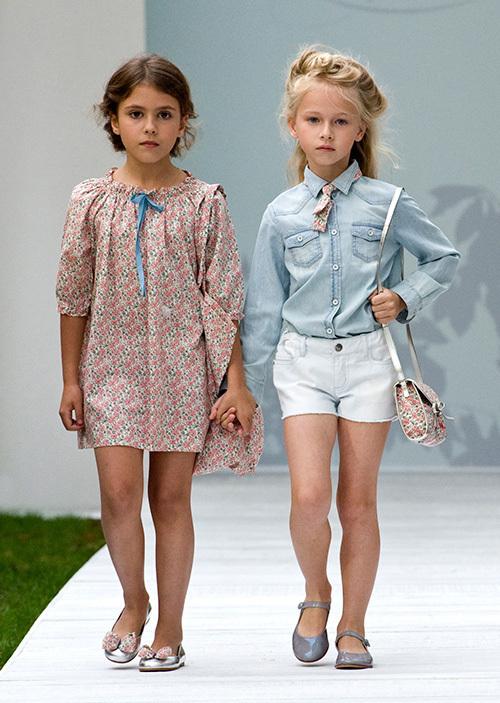 ランウェイの主役は子どもたち!ボンポワン2014年春夏コレクション、愛らしいステージが観客を魅了
