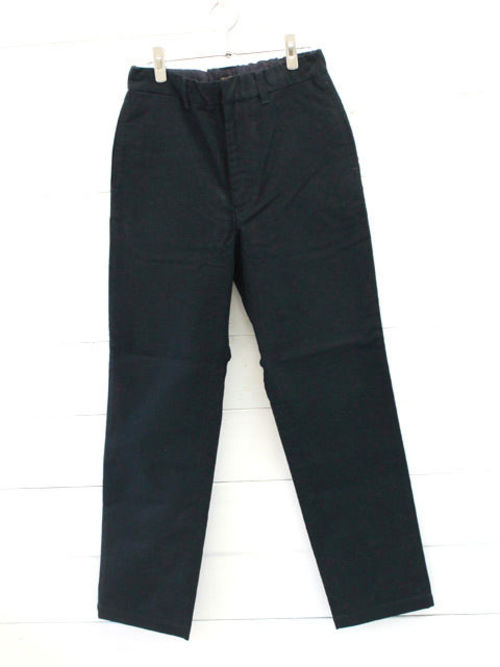 A VONTADE (アボンタージ)Cotton Melton Easy Trousers / INK BLACK 1
