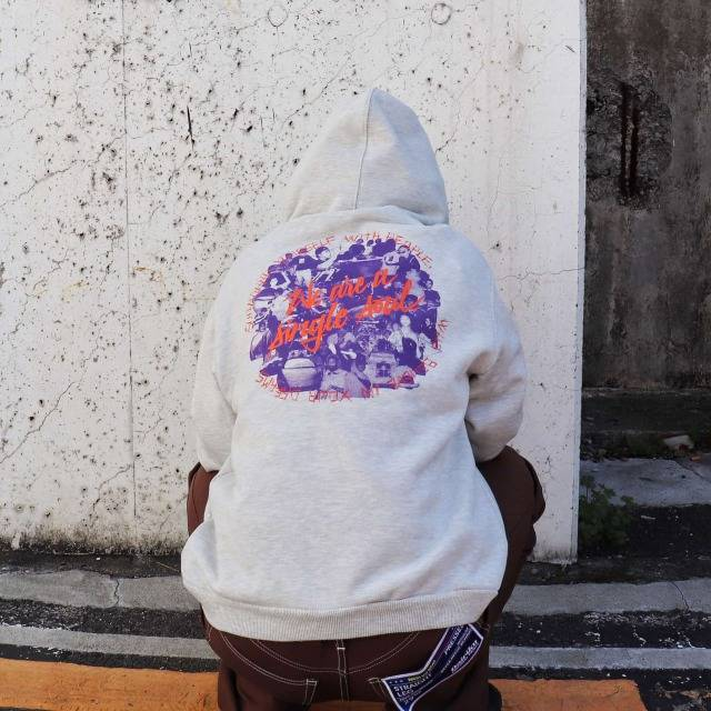 [40%OFF] SELF MADE BY GIANFRANCO VILLEGAS / Oversized hoodie with small selfmade logo 1
