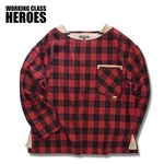 Working Class Heroes Busted Shirt -Red 1