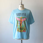 NIRVANA Printed T-shirt - Sax【THRIFTY LOOK】 1