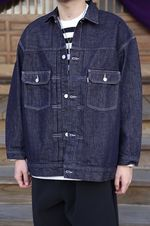Graphpaper Colorfast Denim Blousonスタイル 2